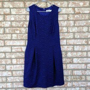 Eliza J Blue Brocade Dress 14